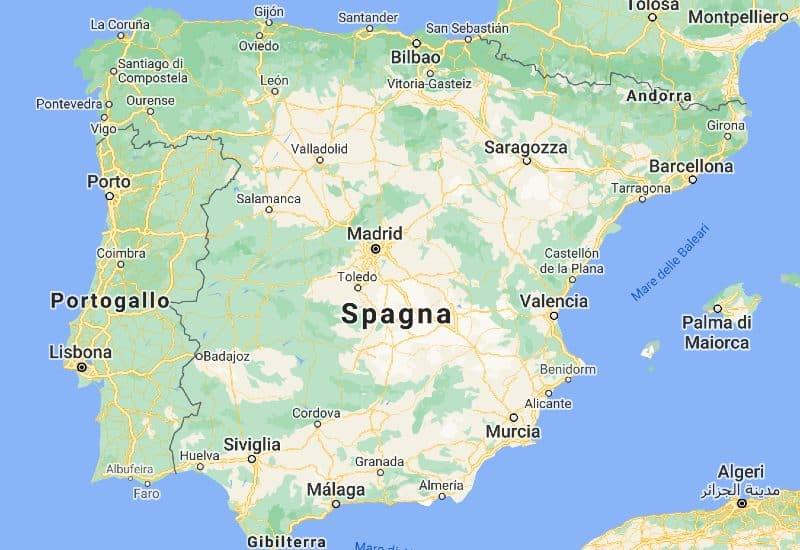 Cartina Mappa Spagna.Mappa Della Spagna Consulta La Cartina Della Spagna Interattiva