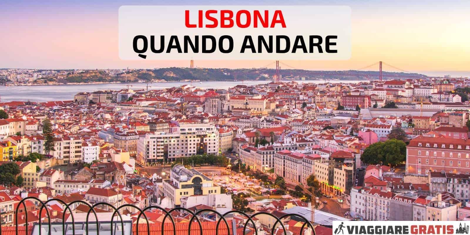 Meteo a Lisbona quando andare