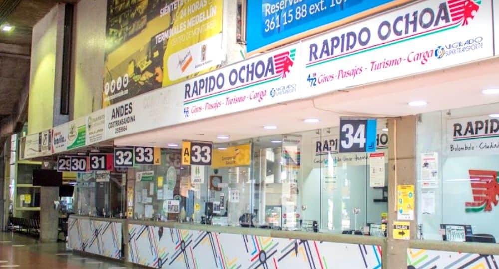 taquilla Rapido Ochoa Terminal Sur Medellin
