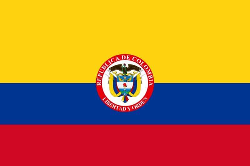 Bandiera Colombia presidenziale