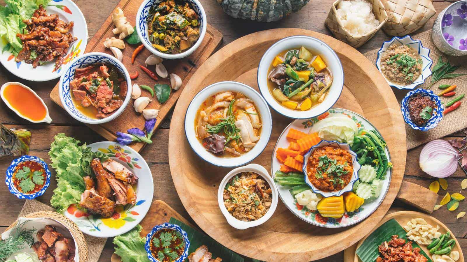 Cibo cucina thailandese