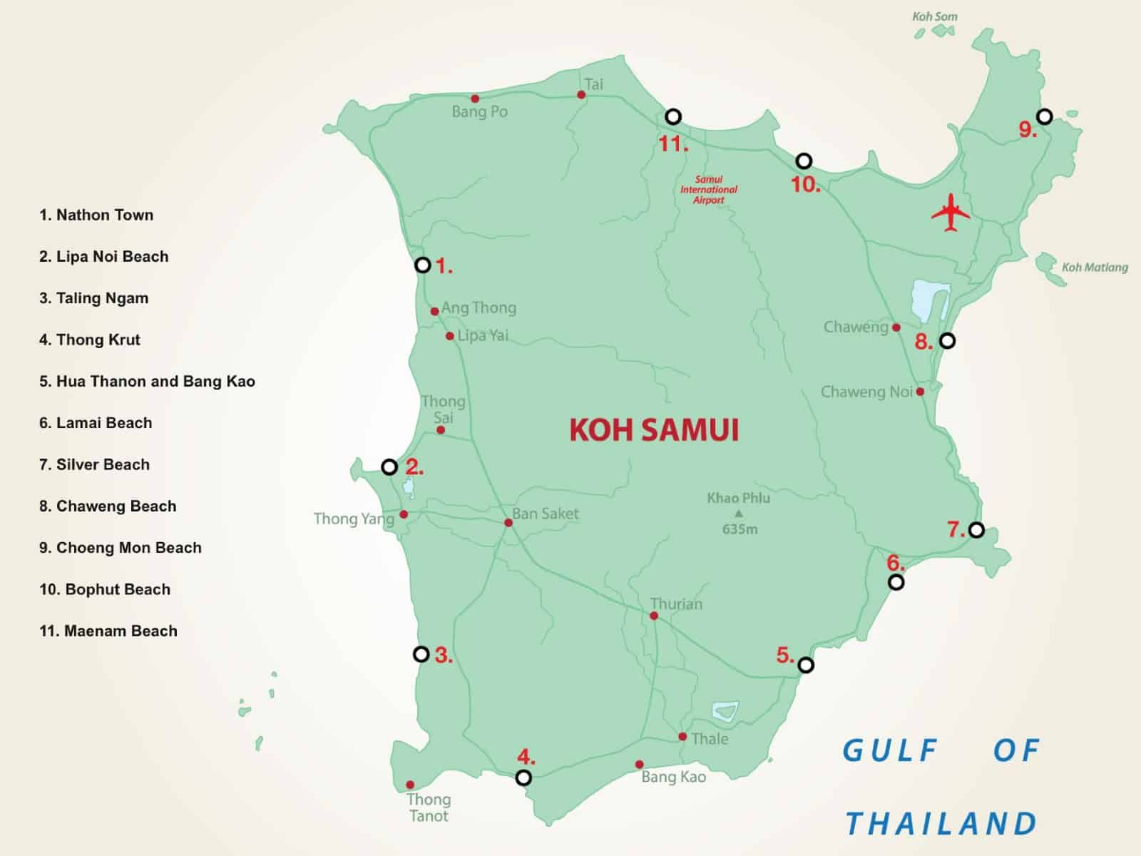 Mappa Koh Samui