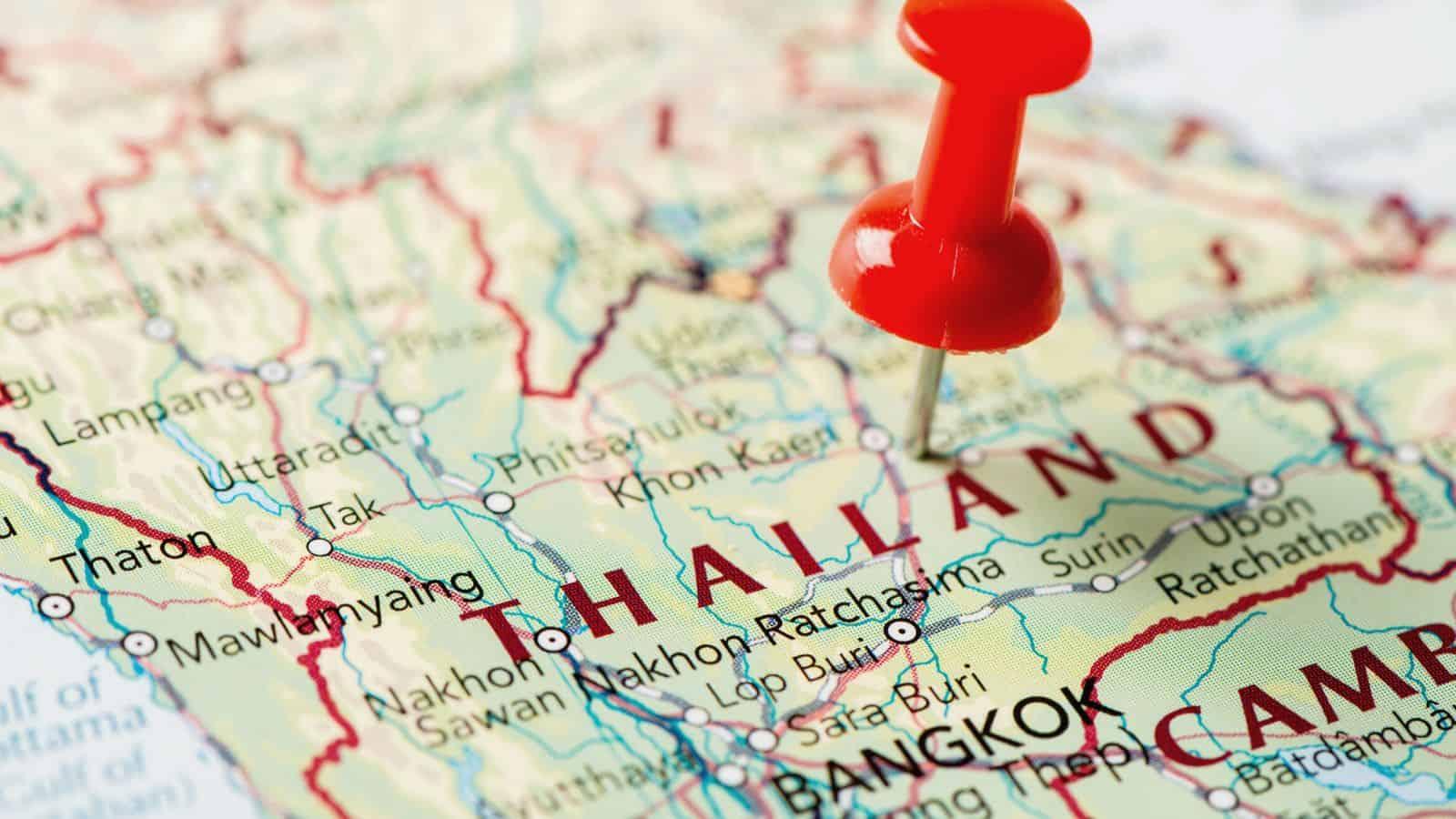 Mappa della Thailandia