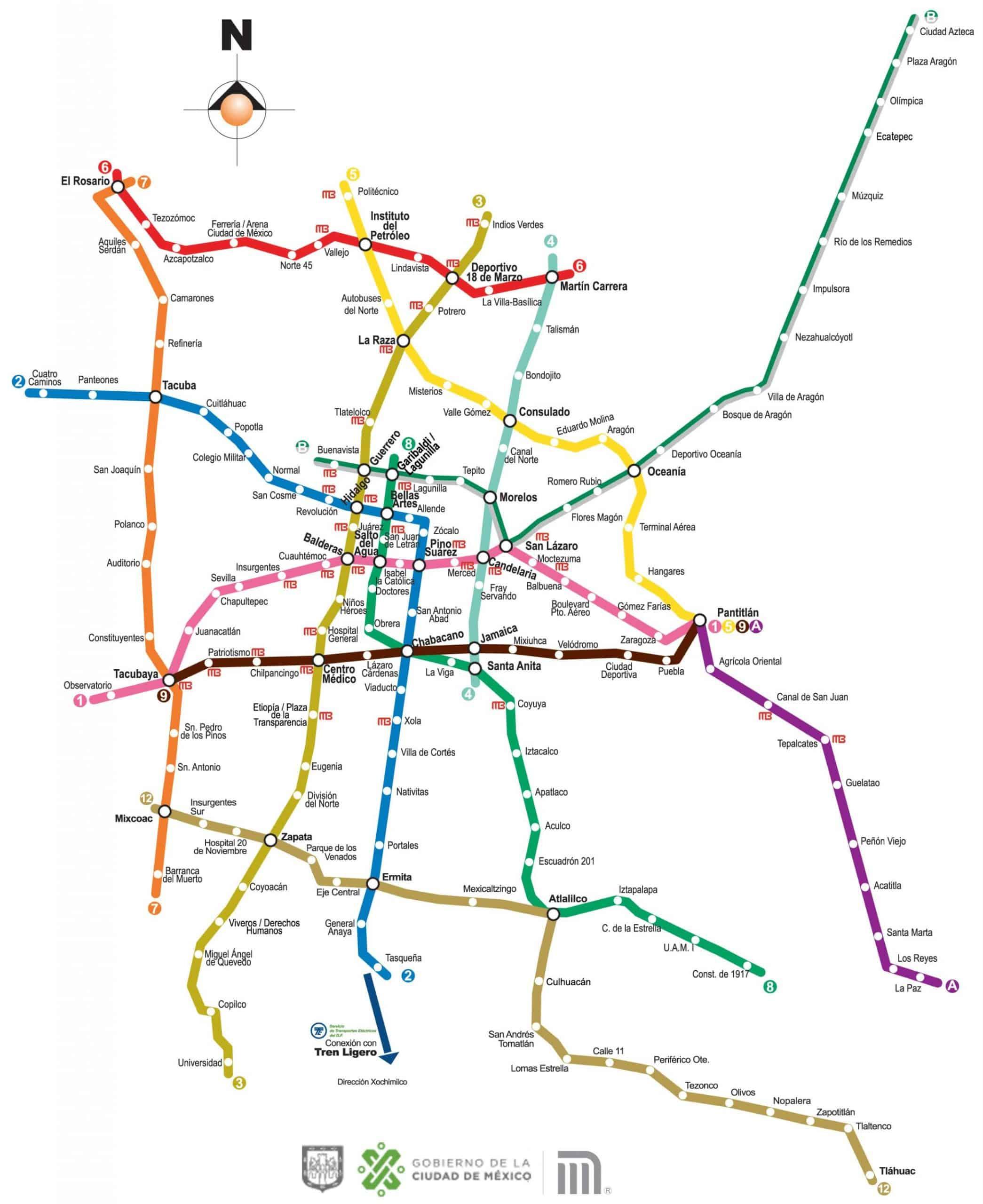 Mappa metro Citta del Messico