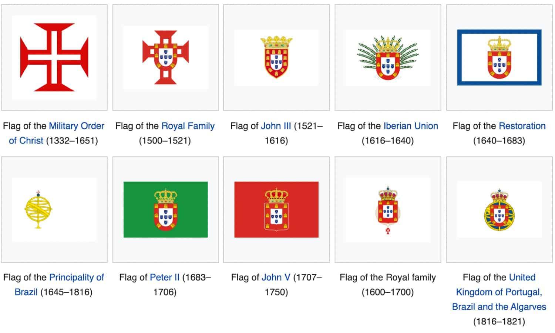 Brasile bandiere storiche