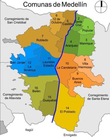 Comunas di Medellin