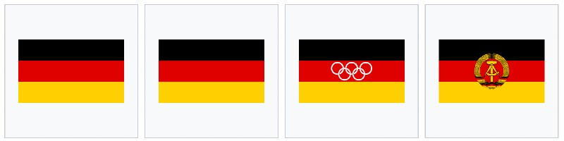 Germania bandiera Est Ovest
