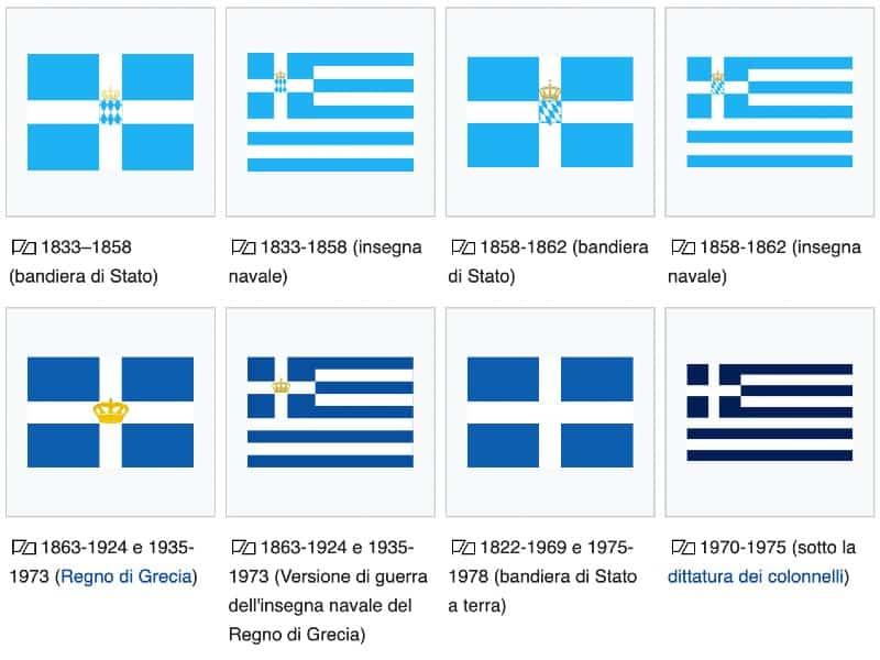 Bandiera greca storia significato colori