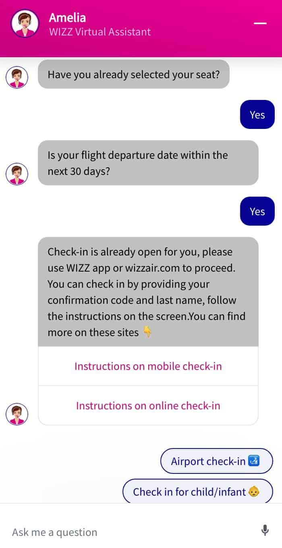 Wizz Air assistente virtuale