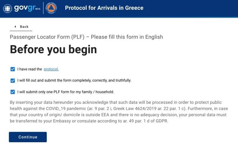 documenti per entrare in Grecia