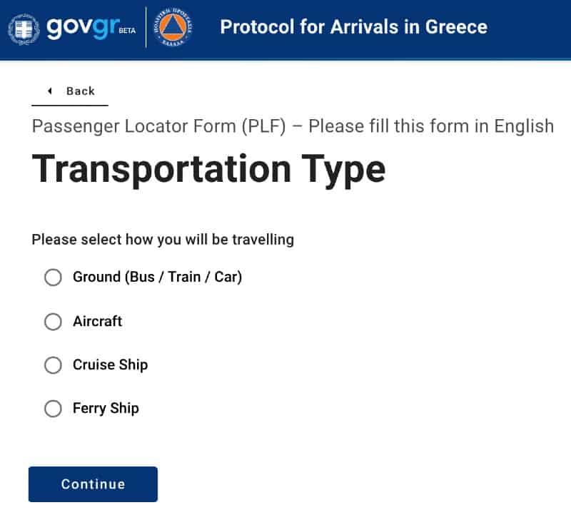 mezzo di trasporto viaggio in Grecia