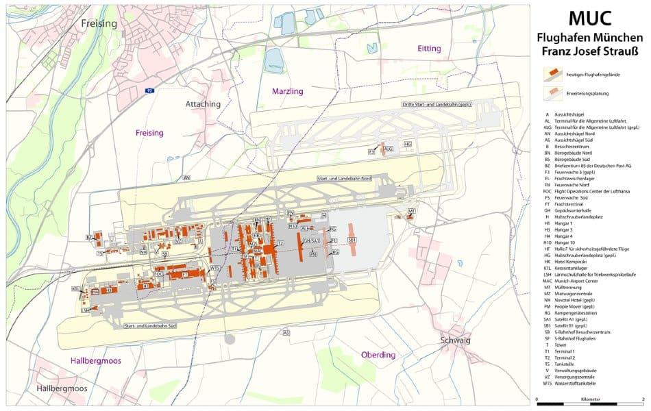 Munich Airport mappa